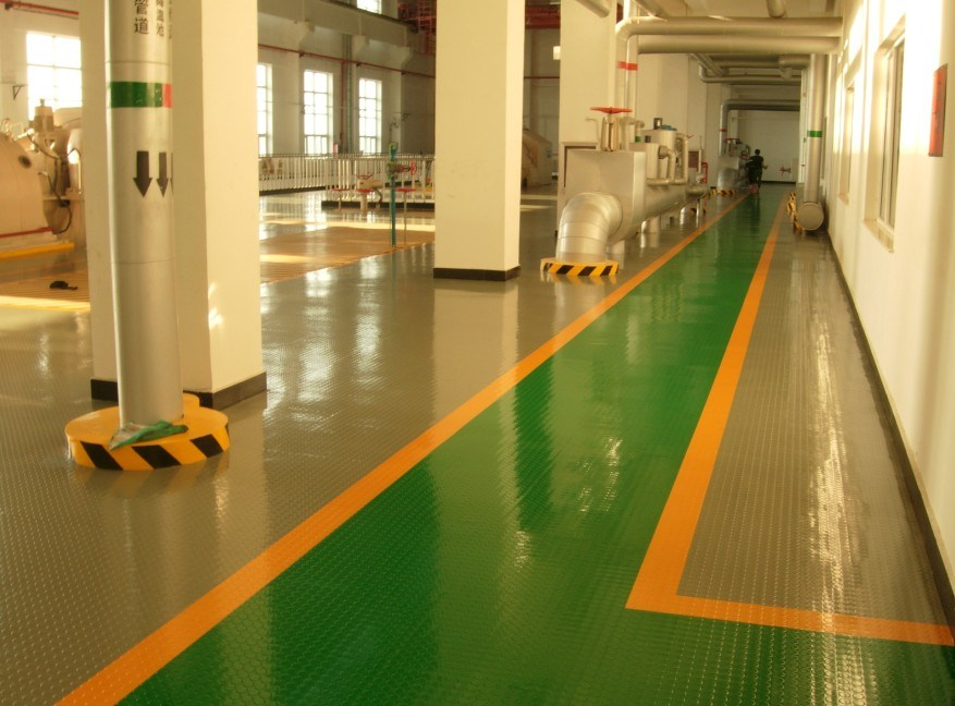 Flame Resistant Flooring : China indoor rubber tile anti slip flooring fire