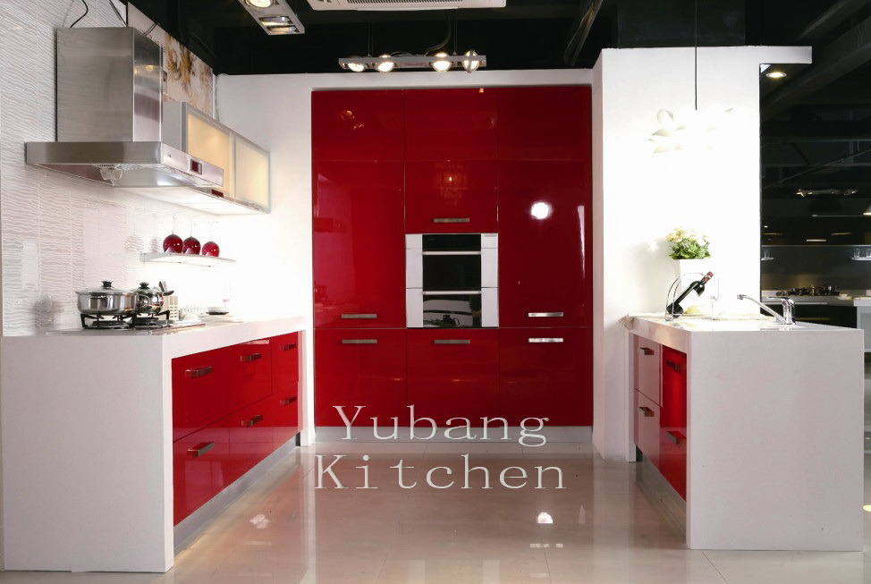 Baked Paint Kitchen Cabinet (M-L79)
