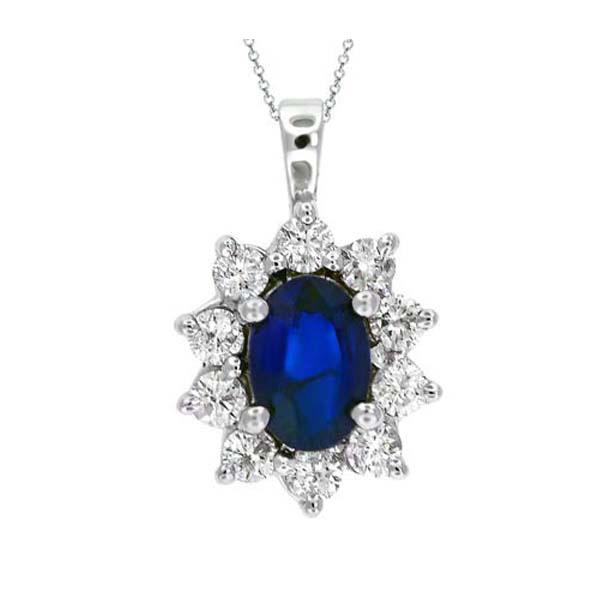 Blue Gemstone Jewelry 925 Silver Spark Pendants Jewelry