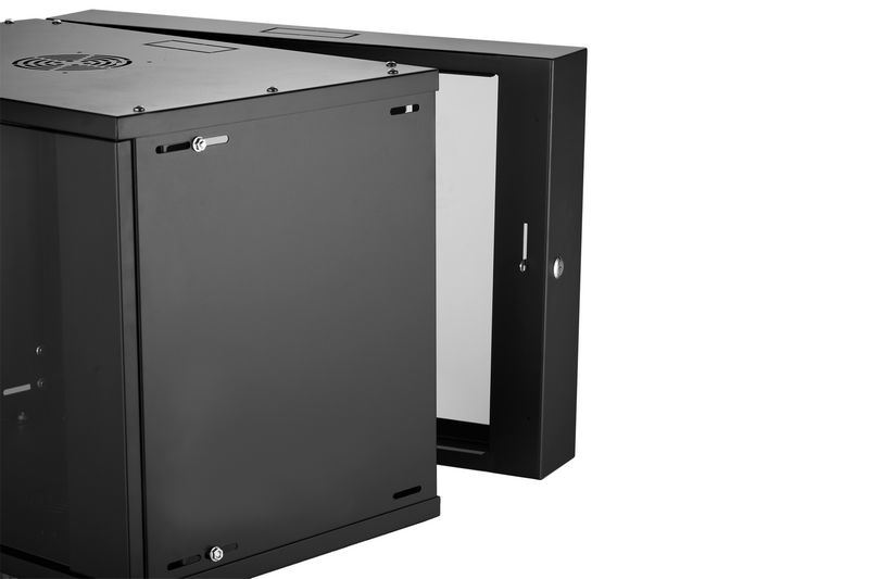Glt-Qd Wall Mounted Cabinet Front Glass Door Black Black Colour