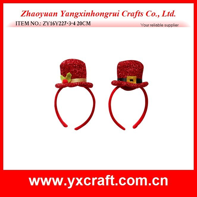 Christmas Decoration (ZY16Y227-3-4 20CM) Christmas Very Red Hat Christmas Stand