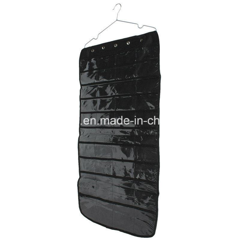 Black Fabric Jewelry Hanging Storage Organizer