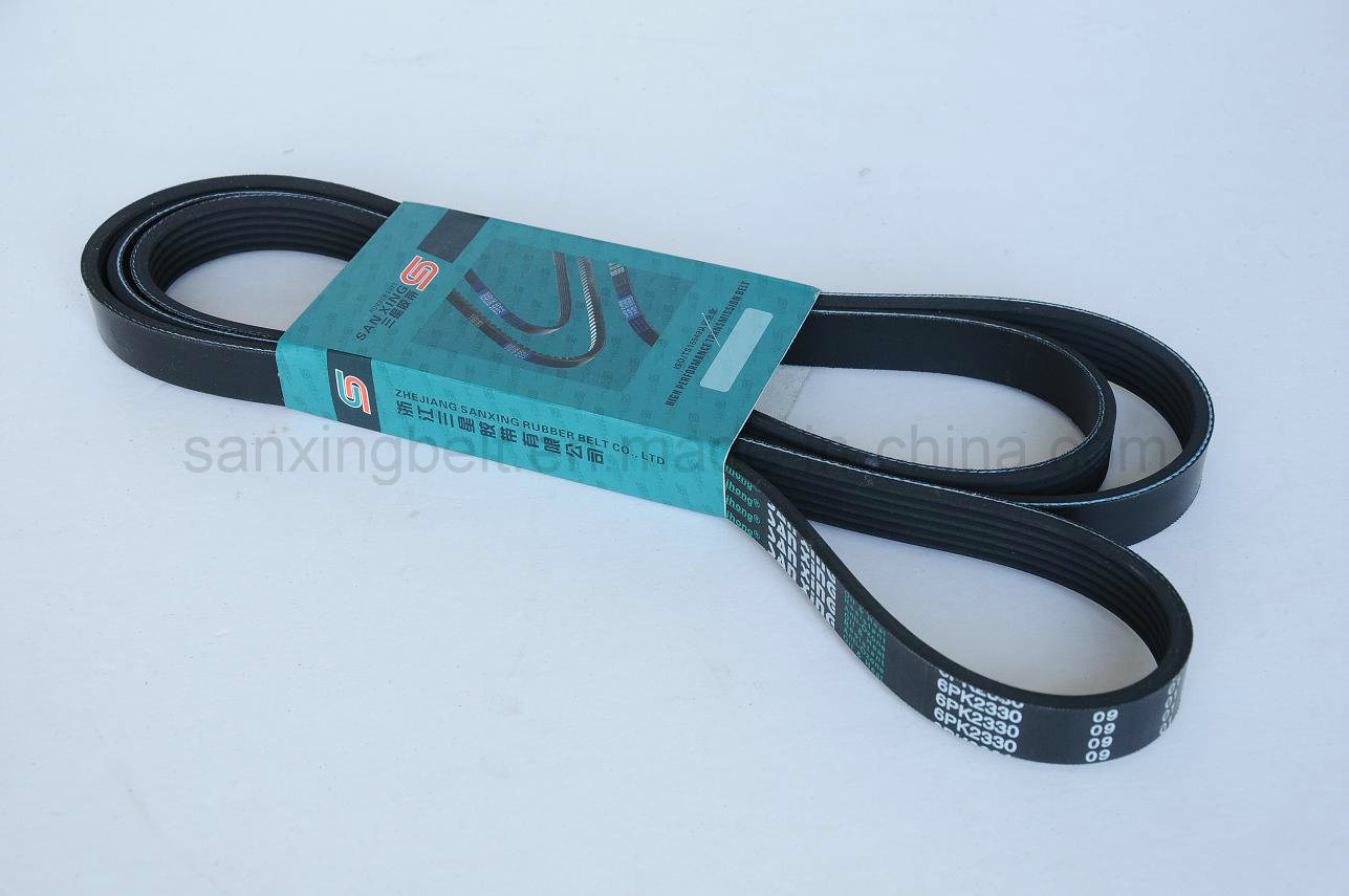 High Quality Industrial Rubber Poly V Belt / Ribbed Belt