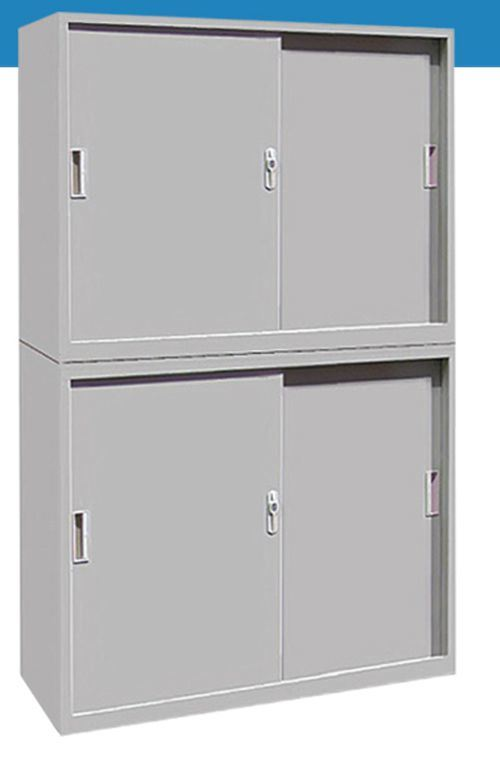 4-Door Sliding Operated Steel Furniture Office Wardrobe