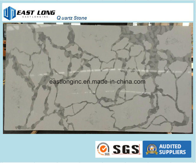 Ce Certificate & SGS Standard Calacatta Types Quartz Stone Slab for Worktop Garage/ Home Decoration/ Building Material