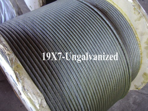 Ungalvanized Steel Wire Rope (19X7)
