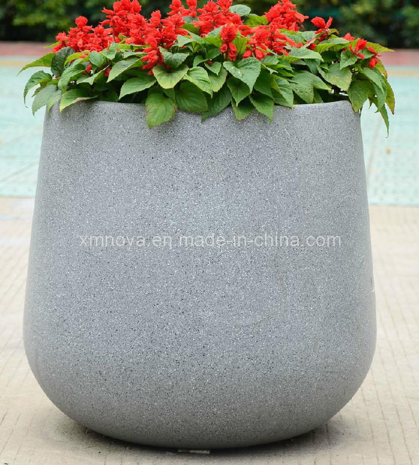 Fiberglass Reinforced Plastic Flower Terrazzo Planter/Pots for Garden Decoration