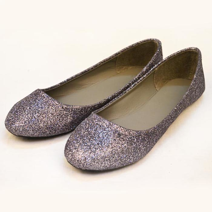 Fashion Sparkling PU Flat Heel Women Ballet Shoes A137601160