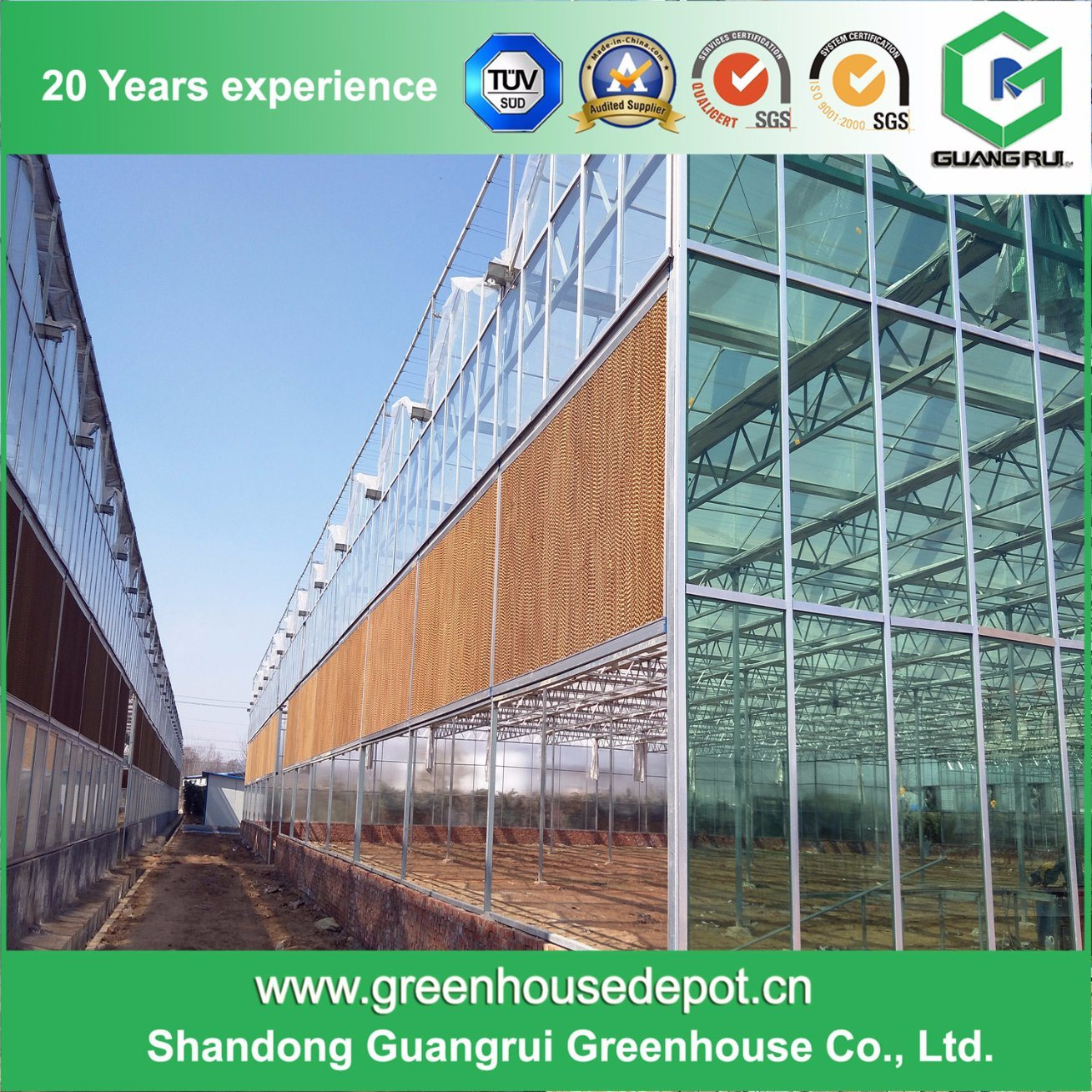 Hot Sale Professional Cheapest Glass Insulated Tempered Glass Greenhouse