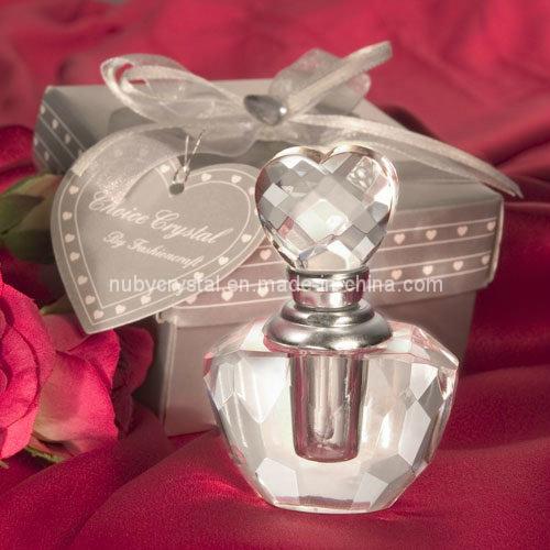 Crystal Heart Perfume Bottle for Wedding Favors