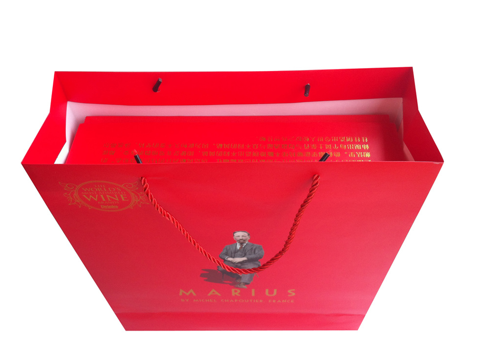 2016 High Quality Hot Selling Paper Double Wine Box with Paper Bag (YY-B0215)