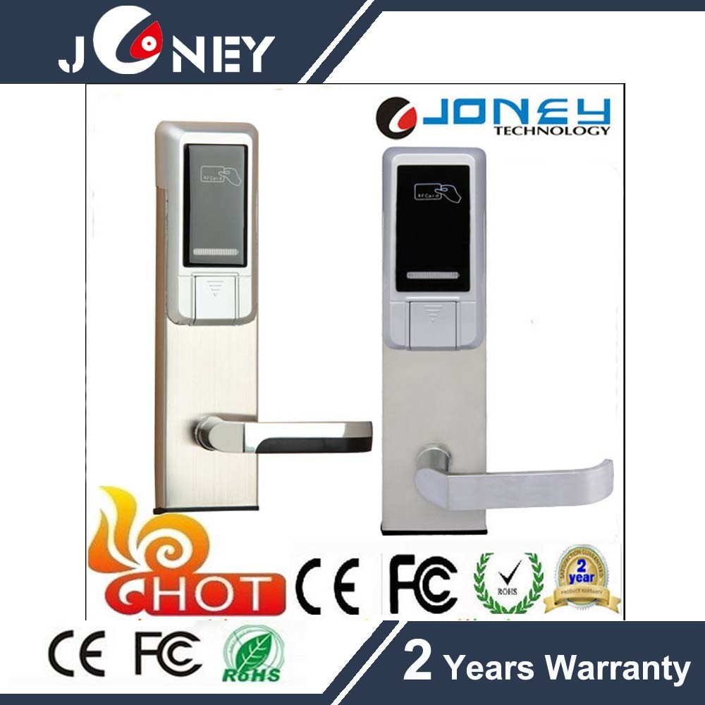Resonable Price Low Voltage Warning Hotel Door Lock with 13.56MHz