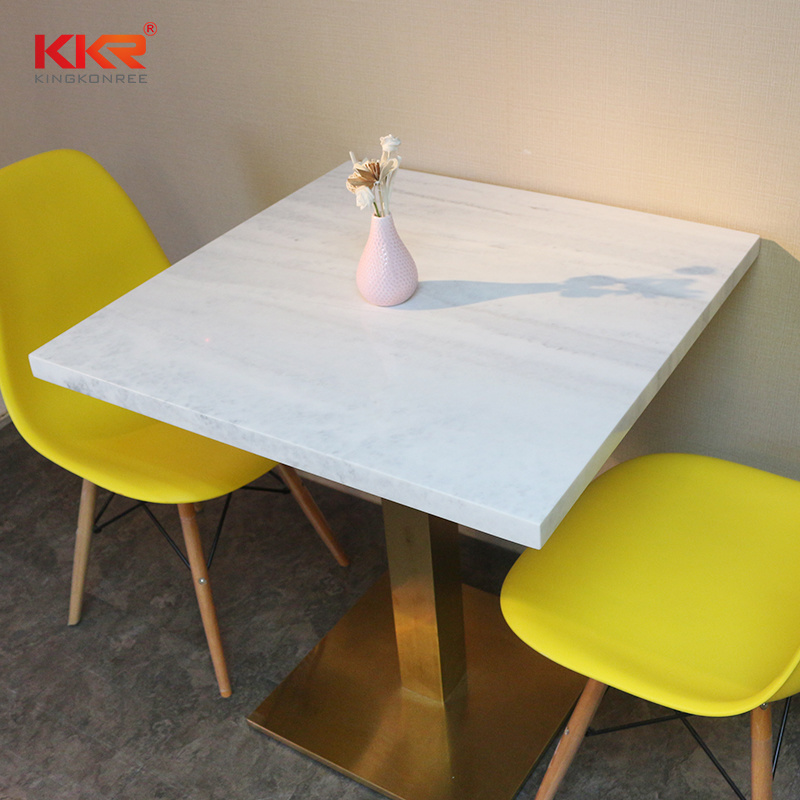 Modern Design Square Fast Food Restaurant Dining Table (T171120)