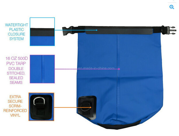 500d Ripstop Nylon Ocean Pack Waterproof Dry Bag Travel Bag
