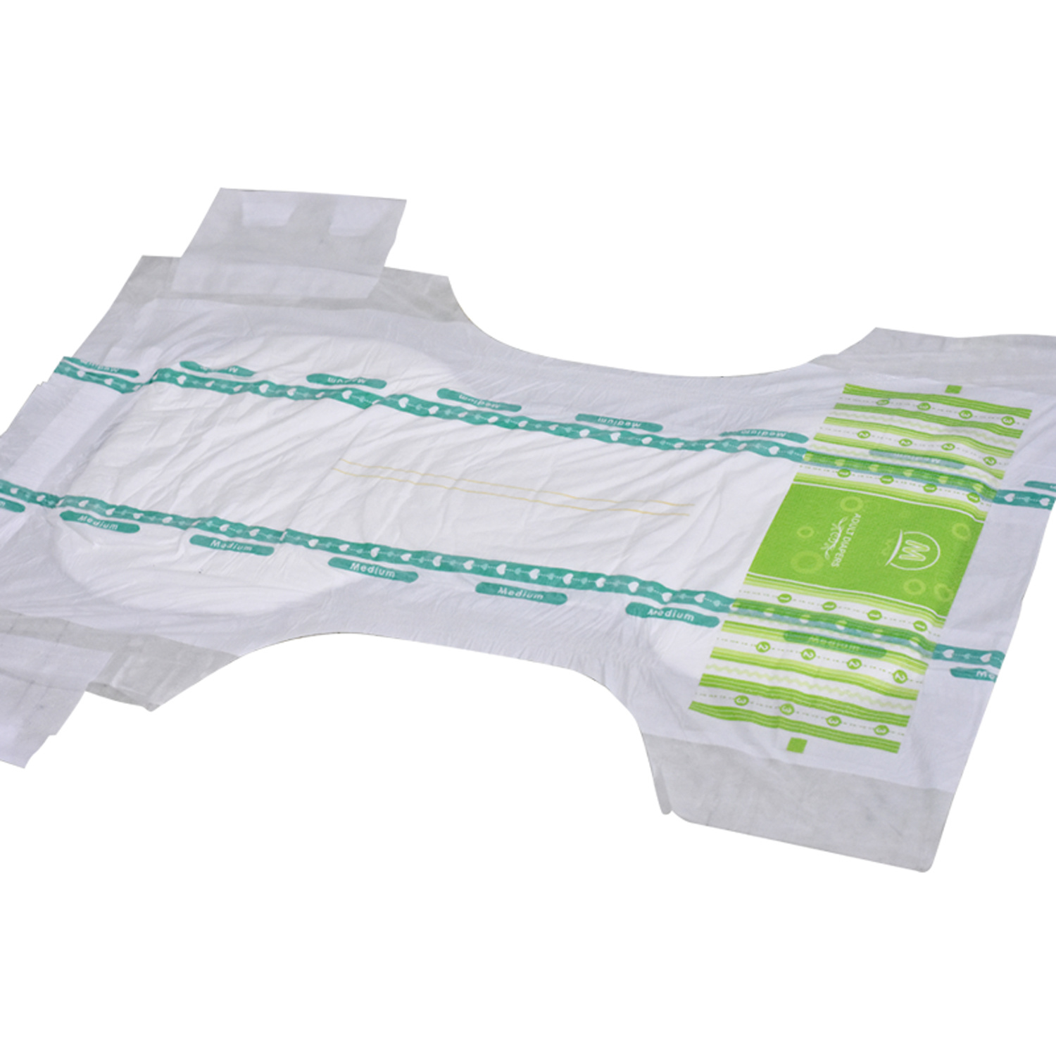 Disposable Magic Tape Hold Adult Diapers OEM Manufacturer Breathable Cloth-Like Back Sheet