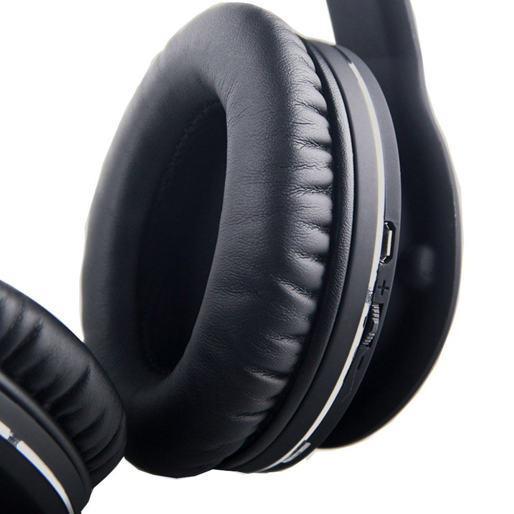 Gymsense Foldable Stereo Wireless Bluetooth Headset Headphone with Mic 3.5mm Audio Cable