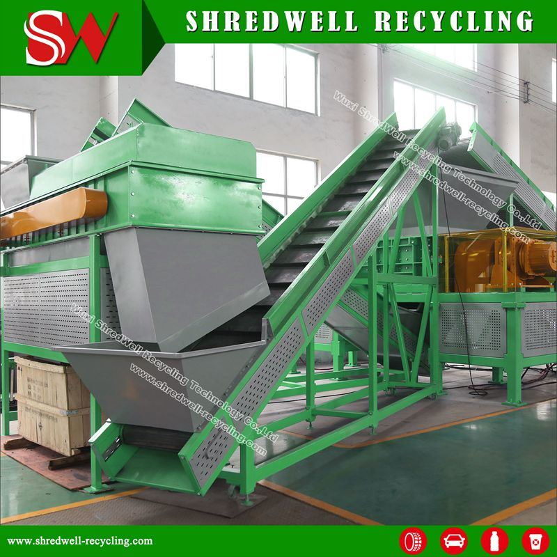 Fully Automatic Scrap Tire Shredder for Used Tyres and Waste Tires with Siemens Motor