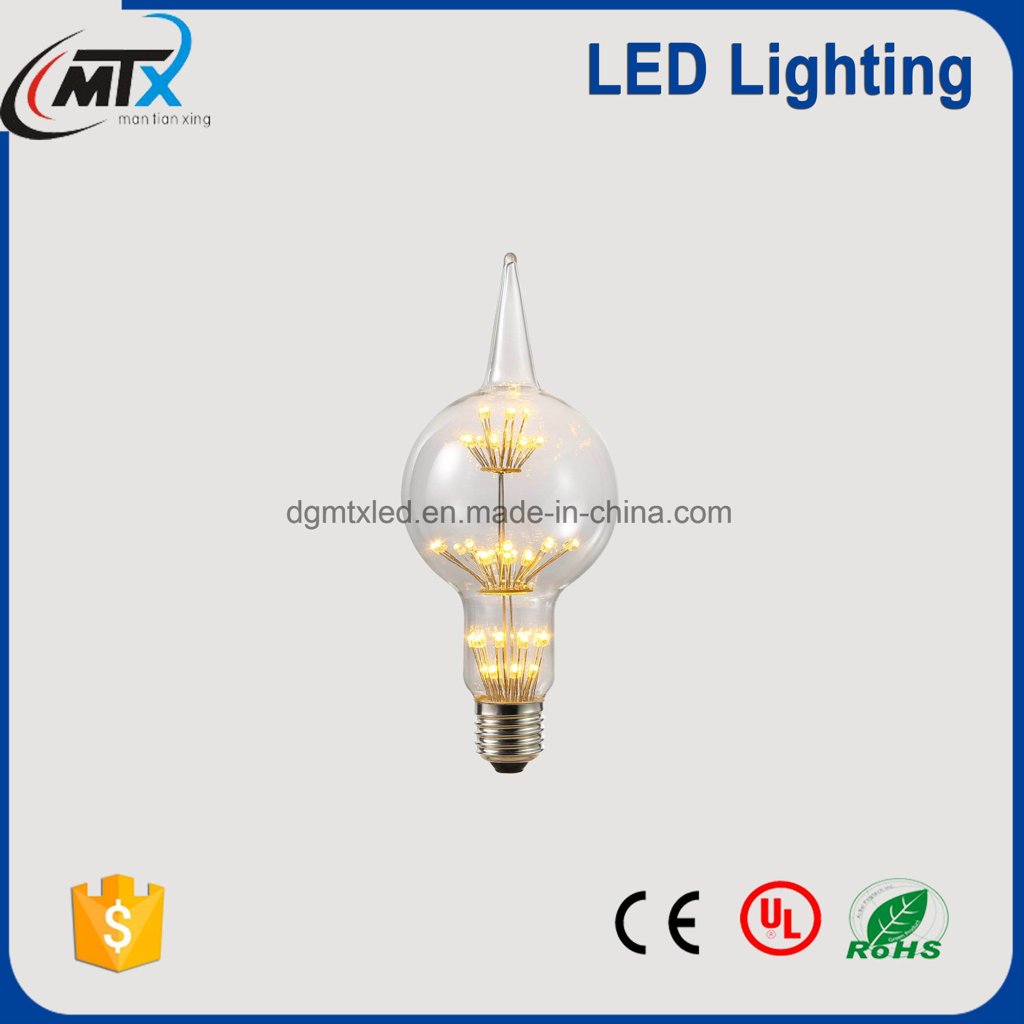 LED rechargeable emergency light bulb 2700K, LED diode 3W bulb