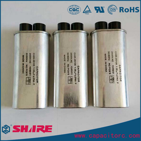 0.8UF~1.2UF H. V. Industrial Microwave Oven Capacitor