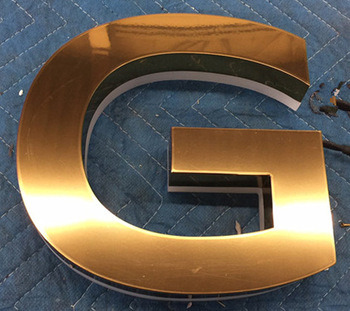 2017 Popular LED Backlit Channel Letter Signs, Decorative Metal LED Alphabet Letters with Waterproof LED Strip