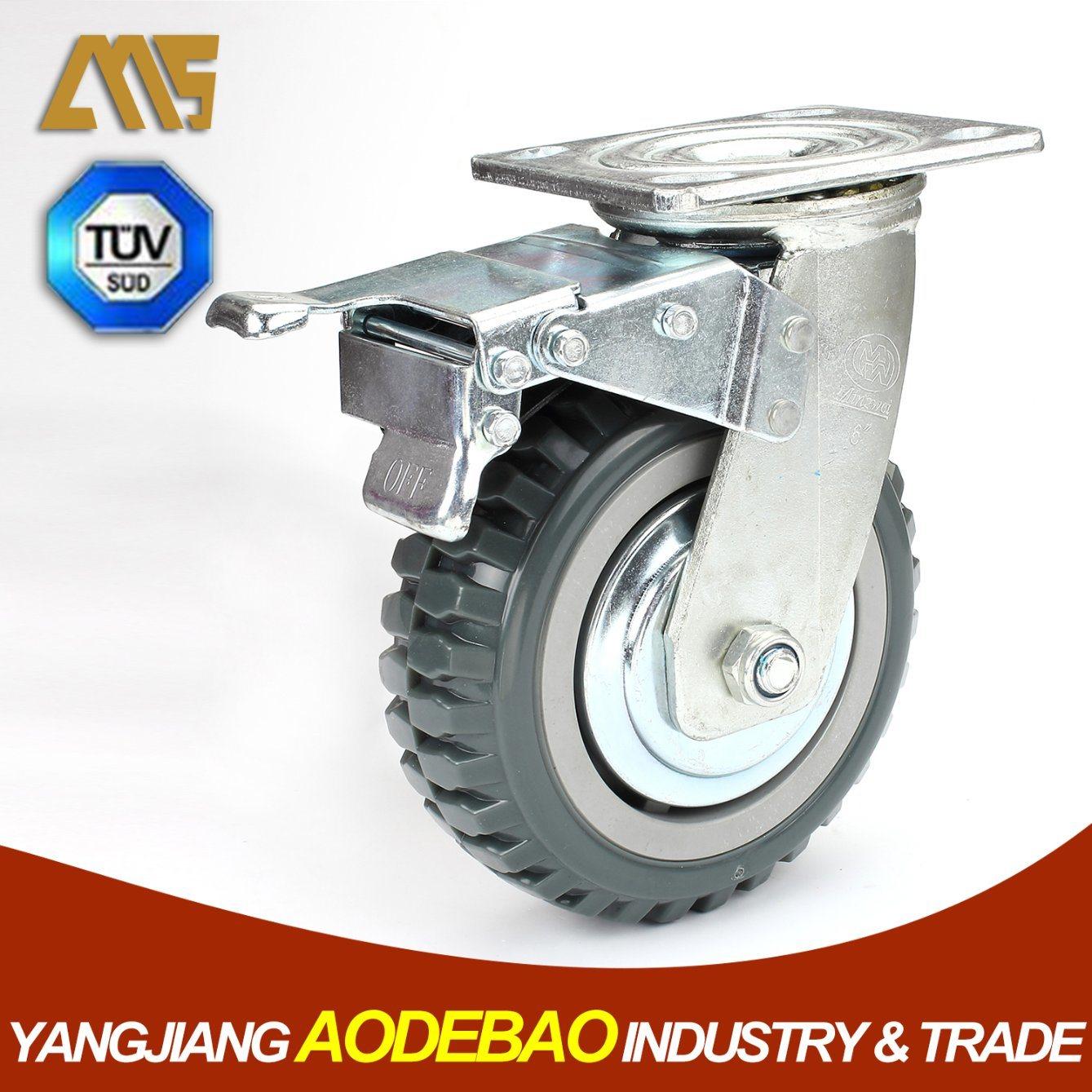 Heavy Duty Double Brake PVC Caster Wheels