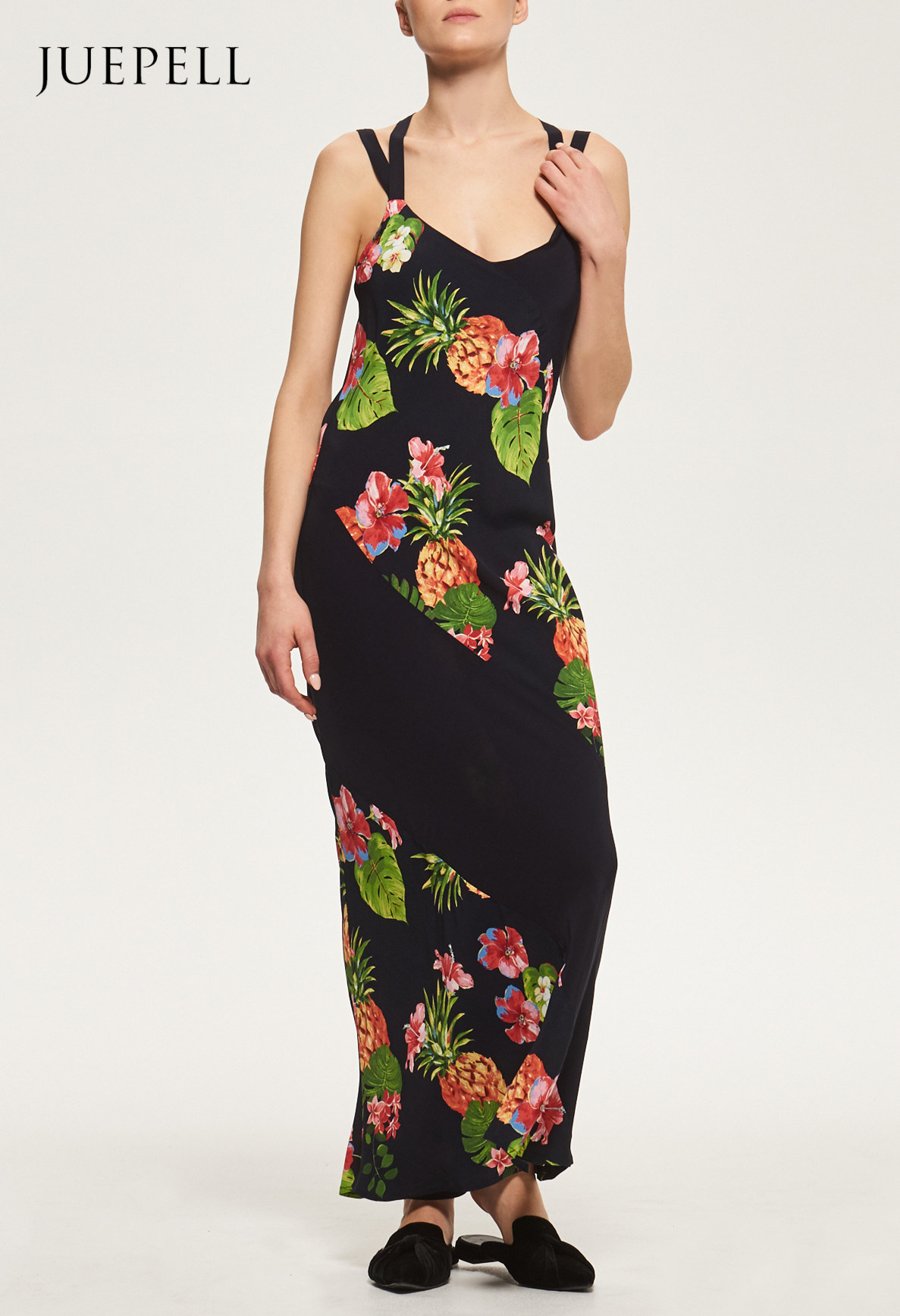 Floral Print Tropical Halterneck Beach Dress