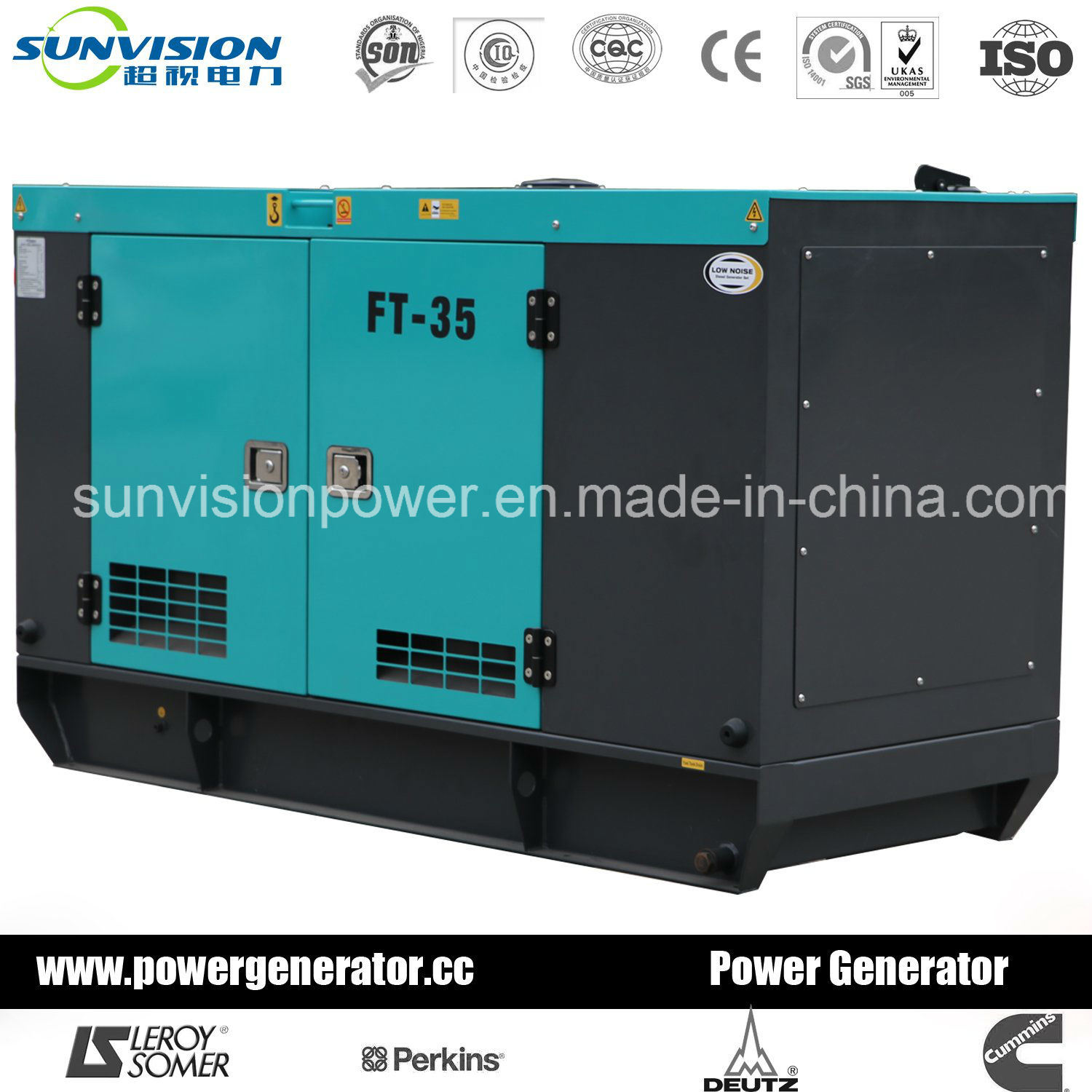 130kVA Soundproof Genset with Perkins 60Hz