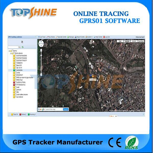 Topshine Online Web-Based GPS Tracking Software (GPRS01) for Fleet Management