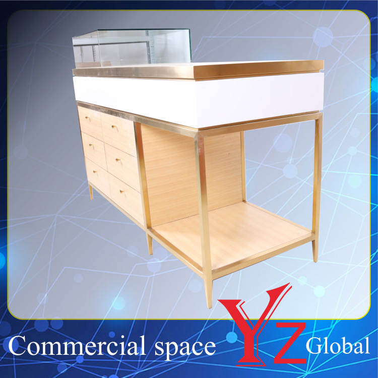 Display Cabinet (YZ161708) Stainless Steel Display Case Display Shelf Display Showcase Exhibition Cabinet Shop Counter