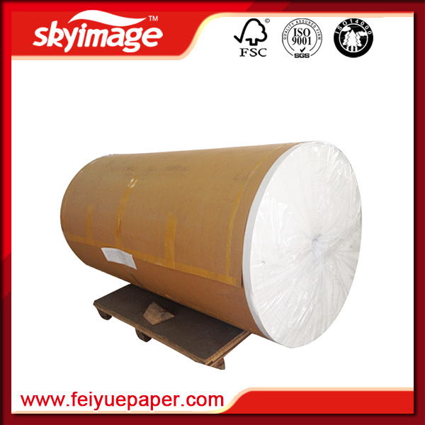 45GSM Quick Dry Sublimation Printing Paper Roll for High Speed Printing