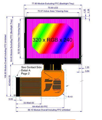 3.5``320*240 MCU/Spi/RGB TFT LCD Display Module Screen with Touch Panel