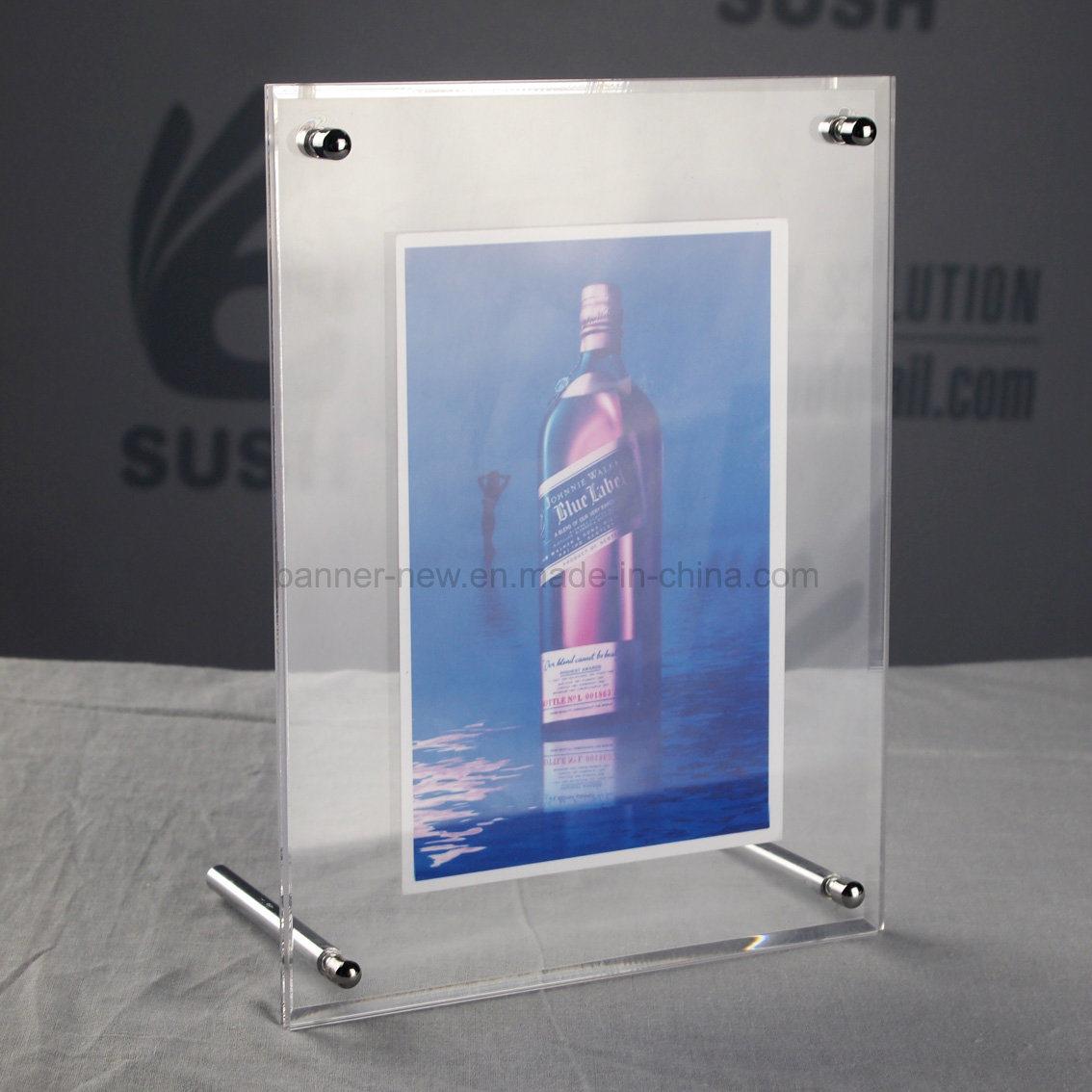 Steel Pole Acrylic Photo Frame