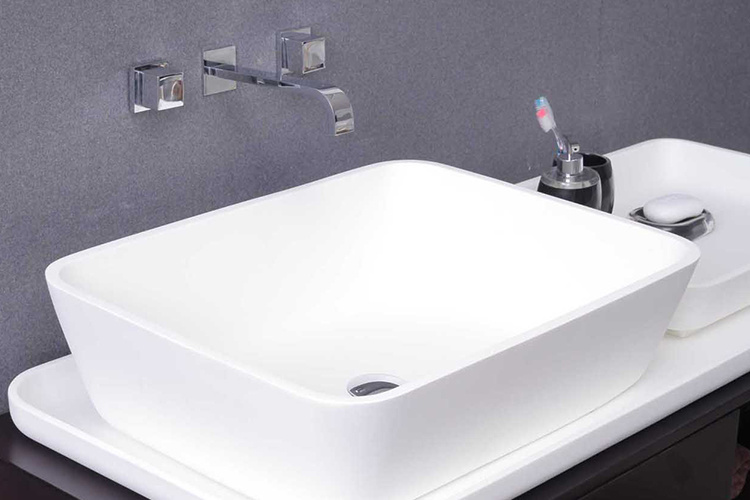 Modified Pure Acrylic Solid Surface Bathroom Basin and Sink (GX306)