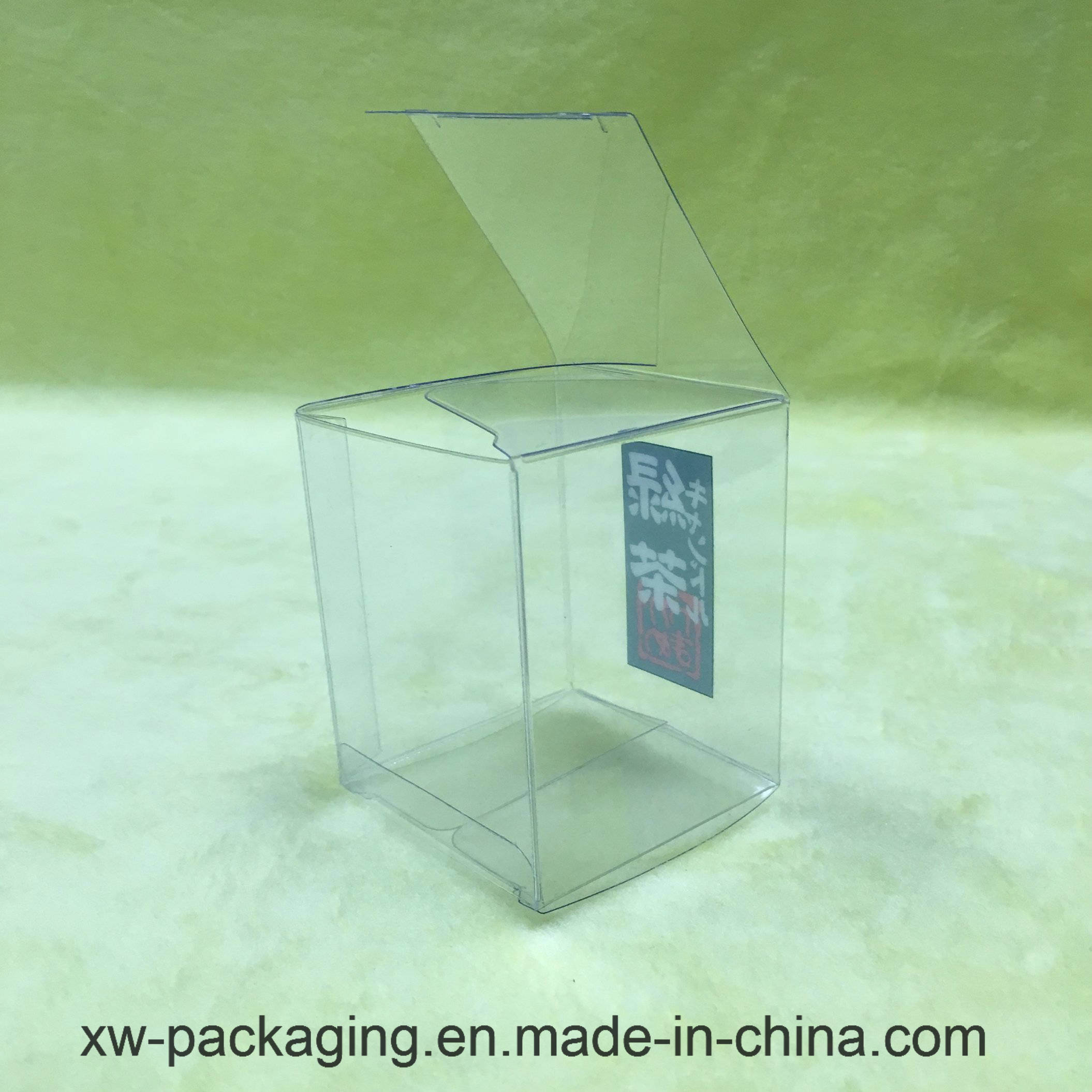 Clear Plastic Packaging Folding Box for Tea Product