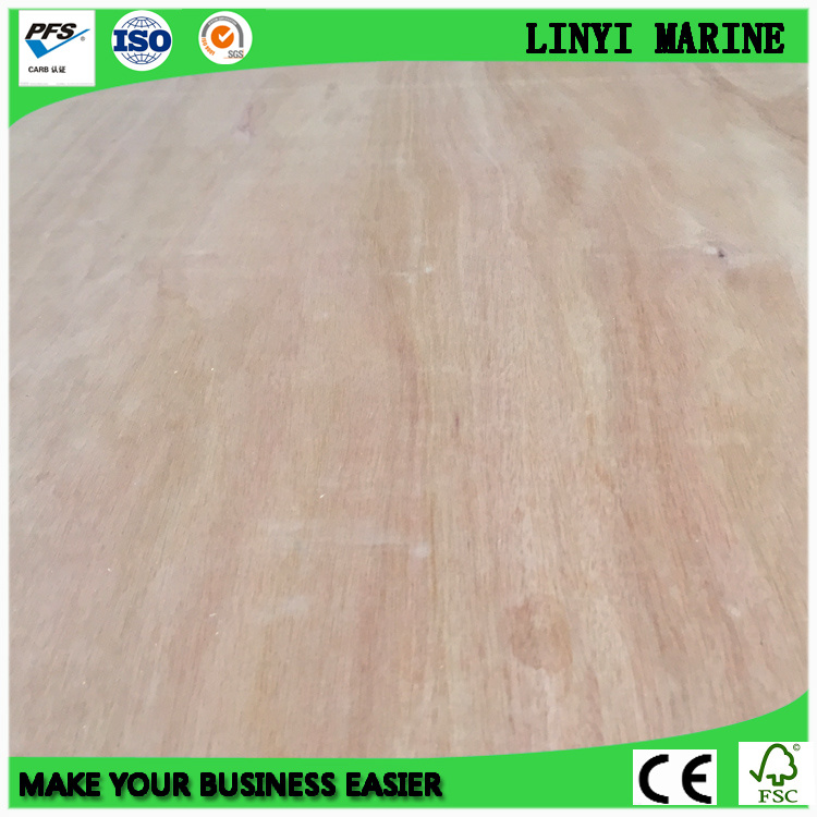 1250*2500mm Bintangor Face Plywood E1 Glue AAA Grade