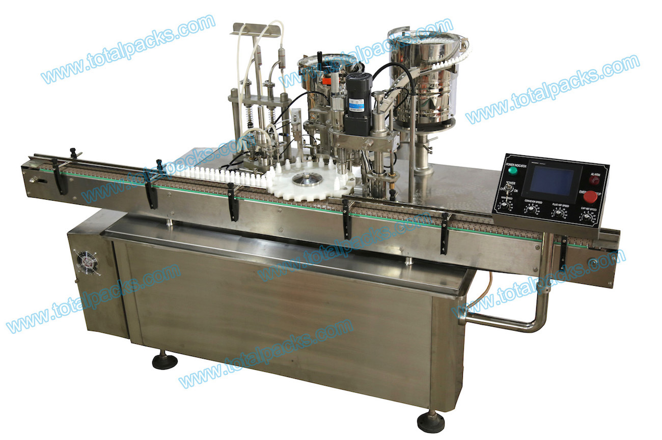 Automatic Bottle Filling Plugging Capping Machine (FPC-100A)