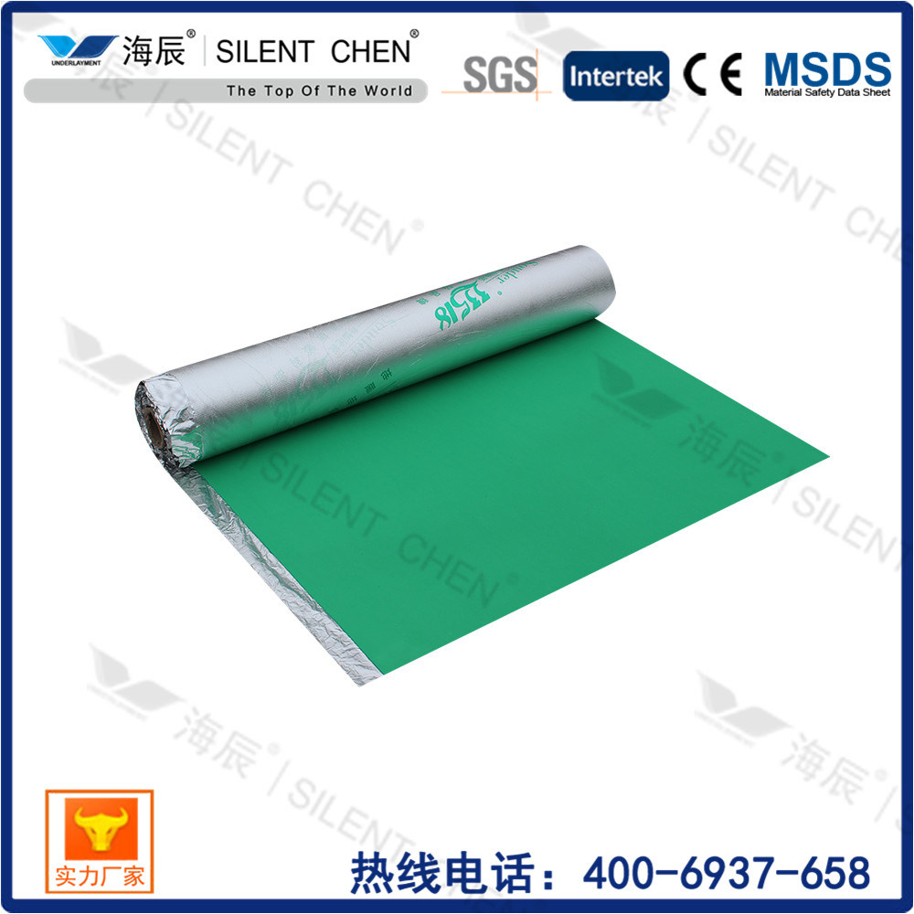 Moistureproof Flooring Underlayment for Laminated Floor with Aluminum Foil