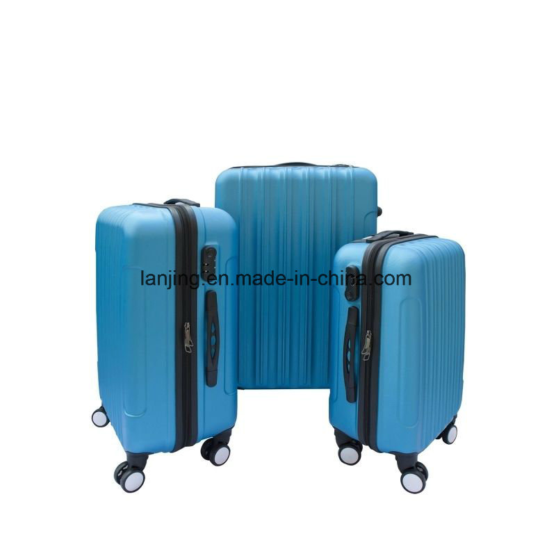 3 Piece Luggage Travel Bag Set ABS Suitcase with Lock