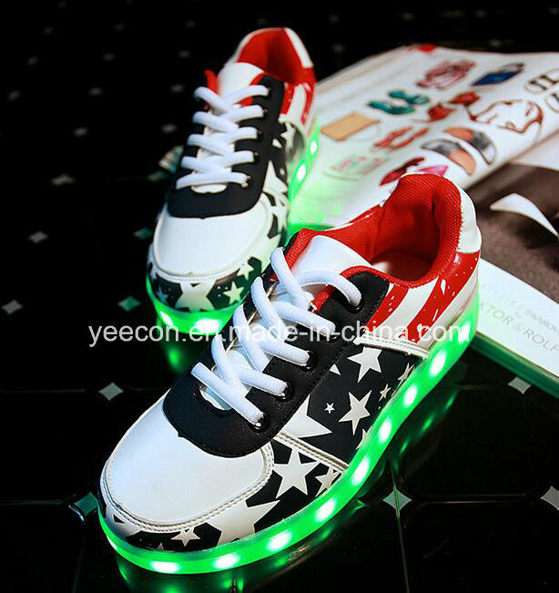 Rechargeable Light up LED Sneaker Running Shoe Flashing Men Luminous Shoes