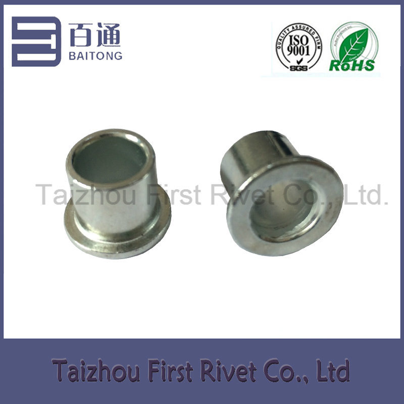 12X12mm White Zinc Plated Flat Head Full Tubular Steel Rivet