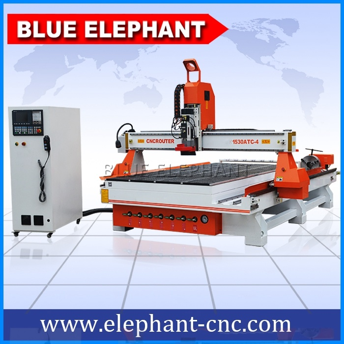 Ele 1530 High Quality Wood CNC Engraver, 4 Axis CNC Wood Engraving Machine for Sale