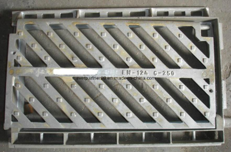 En 124 D400 Ductile Iron Casting Gully Grating with Hinge