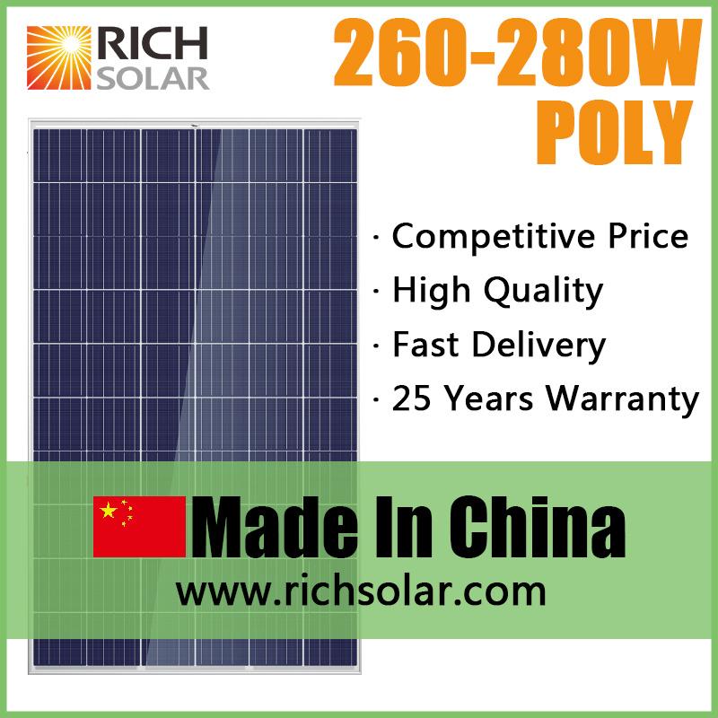 280W 12V PV Poly Solar Panel with TUV UL