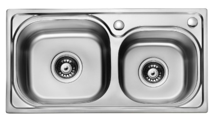 Double Bowls Stainless Steel Sink (6637)