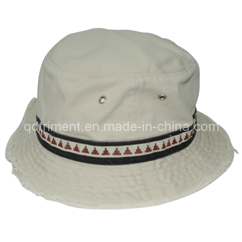 Grinding Washed Raw Edge Bill Fishing Bucket Hat (TMBH9460)