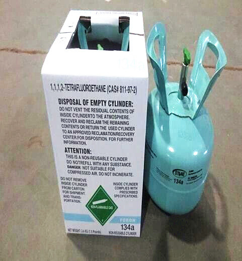 3.4kg/7.5lb Refrigerant Gas R134A for Middle East
