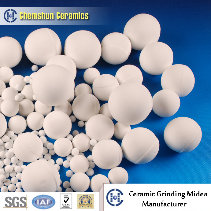 90% 95% Grinding Ceramic Ball with High Crushing Strength