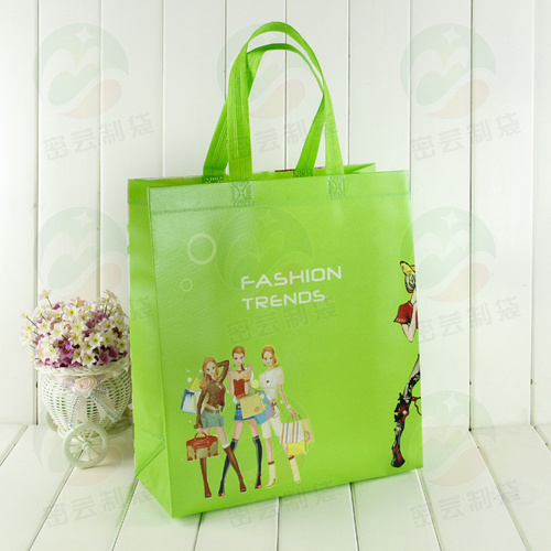 3D Auto-Forming with PS Coating Can Hold 20kg Customised Print Recycable Non Woven Bag (My-031)