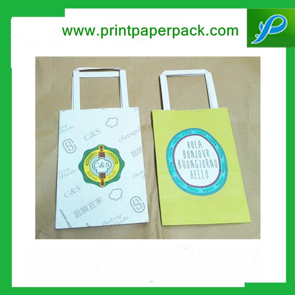 Custom Embossing Printed Kraft Paper Carrier Bag Gift Bag Shopping Bag Cosmetic Bag