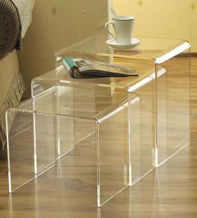 China acrylic nesting tables table